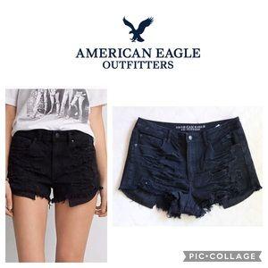 AE Vintage Hi-Rise Festival Stretch Jeans Shorts